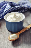 Griekse yoghurt royalty-vrije stock foto