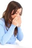 Griep, allergie Stock Foto's