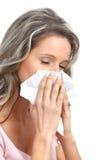 Griep, allergie stock fotografie