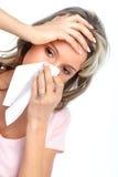 Griep, allergie stock foto