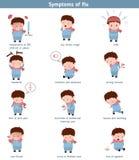 Griep gemeenschappelijke symptomen Stock Afbeelding