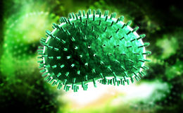 Griepvirus royalty-vrije stock fotografie