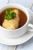 griesnockerl soup Royalty Free Stock Image