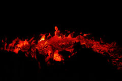 Grieta de fuego Imagen de archivo