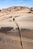 Grieta de la roca Fotos de archivo
