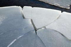 Grieta del hielo Imágenes de archivo libres de regalías