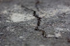 Grieta en el asfalto Imagen de archivo libre de regalías