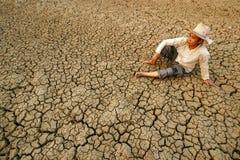 Grieta global de la crisis Foto de archivo libre de regalías