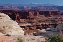 Grieta PK-Blanca nacional de UT-Canyonlands foto de archivo libre de regalías