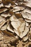 Grieta y rizos del fango imagenes de archivo