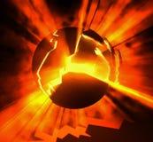 Grietas de calor Foto de archivo libre de regalías