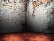 Grietas de la esquina de las paredes de ladrillo Imagen de archivo libre de regalías