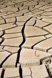Grietas del fango Imagenes de archivo