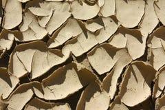 Grietas del fango Imagen de archivo libre de regalías
