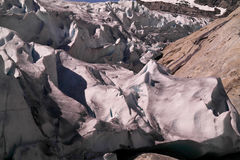 Grietas del glaciar Foto de archivo