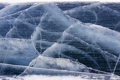Grietas del hielo Foto de archivo libre de regalías