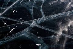 Grietas del hielo fotografía de archivo libre de regalías