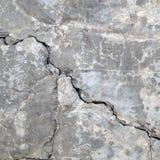 Grietas del muro de cemento imágenes de archivo libres de regalías