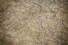 Grietas del suelo secado fotografía de archivo