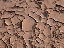 Grietas en el desierto Foto de archivo libre de regalías