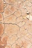 Grietas en la tierra seca Fotos de archivo libres de regalías