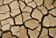 Grietas en la tierra secada Foto de archivo libre de regalías