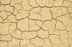 Grietas en suelo seco Fotografía de archivo libre de regalías