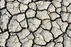 Grietas en suelo seco Fotografía de archivo