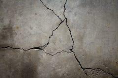 Piso agrietado del cemento Fotografía de archivo