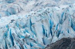 Grietas glaciales Fotos de archivo libres de regalías