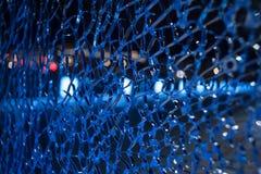 Grietas sobre el vidrio Foto de archivo libre de regalías