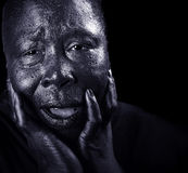Grieving Black Woman Royalty Free Stock Image