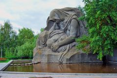 Grieving mother statue. Royalty Free Stock Image