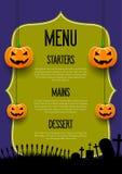 Griezelig Halloween-menuontwerp vector illustratie