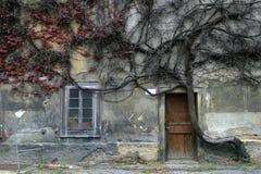 Griezelig huis royalty-vrije stock afbeeldingen