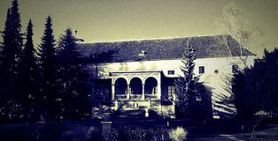 Griezelig Huis Royalty-vrije Stock Foto's