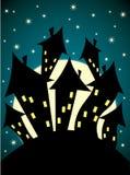 Griezelig kasteel Royalty-vrije Stock Afbeeldingen