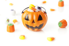 Griezelig Oranje Halloween-Suikergoed Stock Fotografie