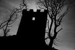 Griezelig silhouet Stock Afbeeldingen