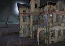 Griezelig verlaten spookhuis vector illustratie