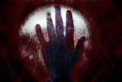 Griezelige bloedhand Stock Foto