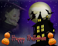 Griezelige de Achtergrond van Halloween Stock Afbeeldingen