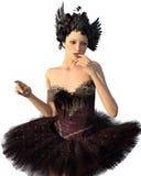Griezelige geïsoleerde ballerina Royalty-vrije Stock Foto