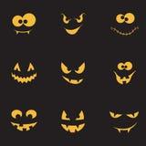 Griezelige geplaatste gezichten Stock Afbeeldingen