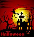 Griezelige Halloween achtergrond Stock Fotografie