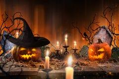 Griezelige Halloween achtergrond Royalty-vrije Stock Fotografie