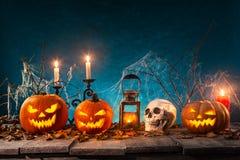 Griezelige Halloween achtergrond Stock Foto's
