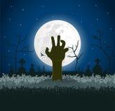 Griezelige Halloween achtergrond royalty-vrije illustratie