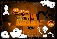 Griezelige Halloween achtergrond Stock Afbeeldingen