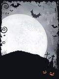 Griezelige Halloween achtergrond Stock Afbeelding